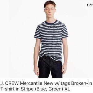 J. Crew Mercantile Broken-in Striped crewneck tee